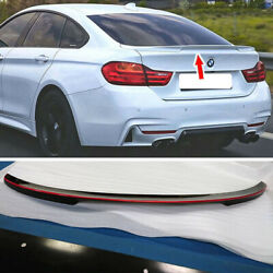 Painted Black + Red Fit For Bmw 4er F36 Gran Coupe Fastback P Look Trunk Spoiler