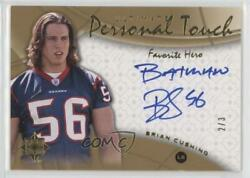 2009 Upper Deck Ultimate Collection Favorite Hero /3 Brian Cushing Rookie Auto