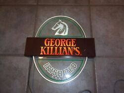 Lighted Beer Sign, George Killian's Irish Red Coors, 12 1/4 X 13 1/2