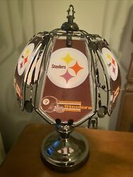 Pittsburgh Steelers Touch Table Lamp New Glass Top, Touch Base 3 Settings