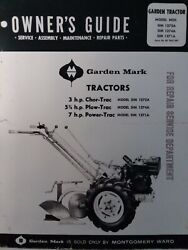 Montgomery Ward Garden Mark Chor Plow Power Trac Tractor Owner And Parts Manual Mw