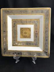 Rosenthal Classic Monaco 12andrdquo Square Serving Platter Gold Silver