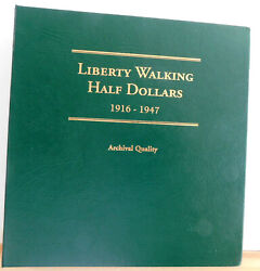 Walking Liberty Half Dollars Full And Complete Set 1916-1947 Littleton Album