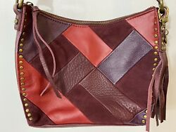 The Sak Silverlake Patchwork Leather Hobo Purse Crossbody Shoulder Bag EUC $38.00