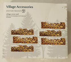 Stone Wall Set of 6 Department 56 Village Accessories 52629