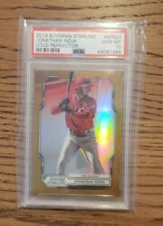 2019 Bowman Sterling Jonathan India Rookie Gold Refractor /50 Psa 10 Pop 1 🔥