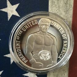 Donald Trump The Fighter Rocky Style 1 Oz .999 Fine Silver Round Coin Sold Out