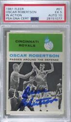 1961-62 Fleer Oscar Robertson 61 Psa/dna Certified Encased Auto Rookie Hof