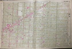 1885 Detroit Mi Hastings St To Campau Park And Macomb To Division Street Atlas Map
