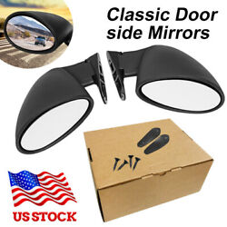 Rightandleft Mirrors Classic Vintage Sport Racing Car Side View Wing Bullet Mirror