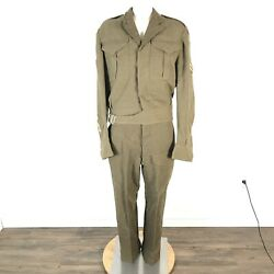 Ww2 Canadian Armoured Corps Captains Battle Dress Jacket With Pants Size 10