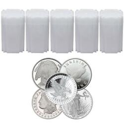1 Oz Silver Round Lot Of 100- New From Mint- Random Design-. 999 Fine Silver
