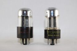 Clean And Matched Pair 2 Sylvania 6sn7gta Test Strong 96-100 New Nos