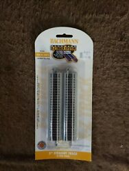 Bachmann N Scale E-z Track 5 Inch Straight Pack 6 Pcs Nickel Silver Ns 44811