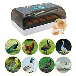 12 Eggs Fully Automatic Temperature Incubator Digital Poultry Chicken Duck Lamp