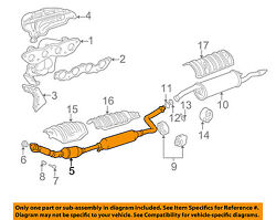 Toyota Oem Exhaust System-front Pipe 1741021441