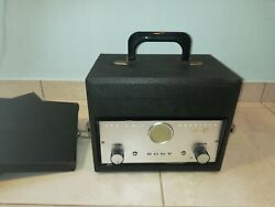 Vintage Sony-radio Mic Receiver Crr-4 And Trasmitter Crt-4