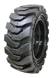 4 Solid Skid Steer K9 Tires Fits Cat 8 Lug Flat Proof 12x16.5 Free Shipping