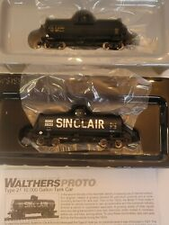 Walthers 920 Ho 21 Acf 10k Gallon Utlx /insulated Sinclair Sdrx Tank Car Pack 2