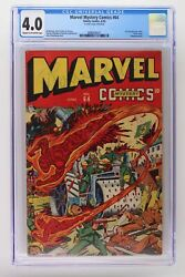 Marvel Mystery Comics 64 - Timely 1945 Cgc 4.0 -hitler Cover- Human Torch