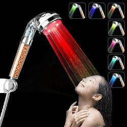 Led Shower Head Color Changing Lovummor High Pressure Handheld Colorful