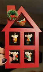 Avon A Merry Little Christmas Display Stand With 5 Mice