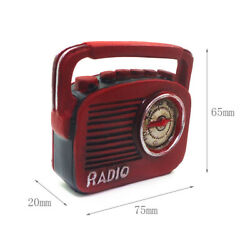 1/12 Mini Red Color Antique Vintage Radio Player Dolls House Accessories