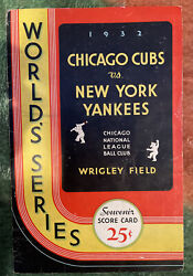 """Babe Ruth 1932 World Series Program -famous """"babe Ruth Called Shot"""" In Chicago🔥"""
