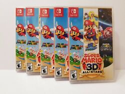 5lot Super Mario 3d Allstars Nintendo Switch Sealed And Brand New Discontinued
