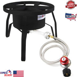 Single Burner Cast Iron High-pressure Outdoor Cooker Boils And Grills Quickly