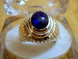 Sapphire Sterling Silver Ring Men Silver Rings Us Size 9 Handmade Silver Jewelry