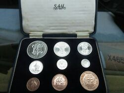 1960 South Africa Mint 9 Coin Set Crown - Short Box