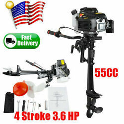4 Stroke 3.6 Hp Outboard Motor 55cc Boat Engine With Air Cooling Cooled System