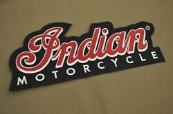 Indian Motorcycles Genuine Nos Jacket Patch Script. Chief Scout Four. 10 Long