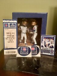 Chicago Cubs Javier Baez/addison Russell Turning Two Sga Bobblehead 7/5/17