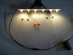 6 Warm White Led Lights - Lgb Short Coach Passenger And Freight Car G Scale Train