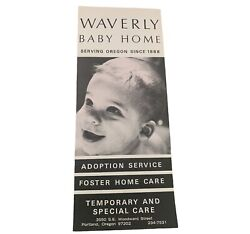 Waverly Baby Home Oregon Flyer 1965 Adoption Foster Home Care Paper Epherma