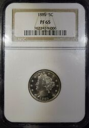 1885 Liberty Head Nickel Ngc Pf65 Free S/h After 1st Item
