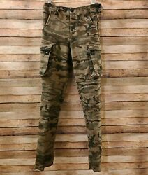 King Of The Mountain Bunwarmer Wool Camo Pants Womens Size 6 Excellent Condition