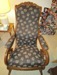 Antique Hand Carved Rocking Chairs