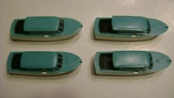 Lionel 6416 Aqua Athearn Boats- Pkg. Of Four- For The Boat Loader-reproduction