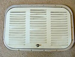 Vintage Camper Trailer Rv Canned Ham Rear Louvered Door Hatch Aluminum 1950 60and039s