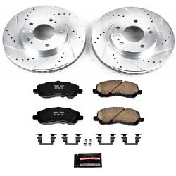 K1678 Powerstop New 2-wheel Set Front Coupe For Mitsubishi Eclipse Sebring Dodge