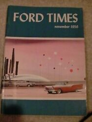 1956 Ford Times Owners News Thunderbird Fairlane Station Wagons Manhattan
