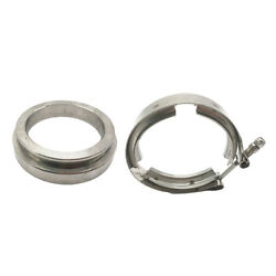 Gt45 Turbo Charger 3.25 Exhuast Mild Steel V-band Clamps W/ Flange Male