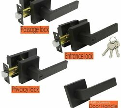 Heavy Duty Home Doors Front And Back Locks With Handle Stainless Steel Materials