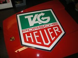 Very Rare Tag Heuer Porsche Watch Monaco Showroom Garage Dealership Sign