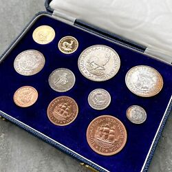 1958 South Africa With Gold Coin - Complete Proof Set Mintage 515 Sets Toning