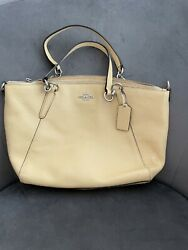 Coach Women#x27;s Prairie Satchel Crossbody Leather Bag Yellow $59.00