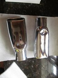 Restored Exhaust Tip 69 Early Chevelle 1969 Rolled Edges 396 427 Copo